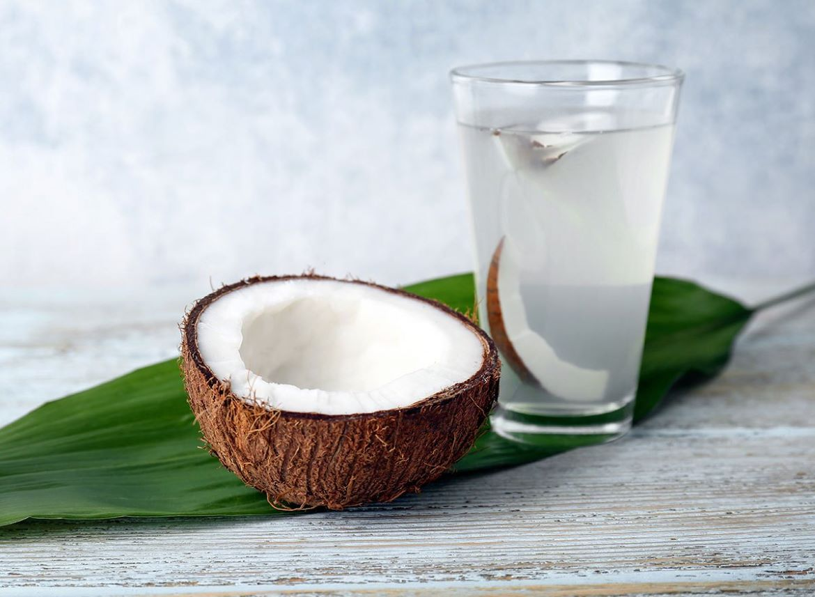 coconut-water-on-leaf