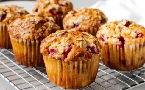 Овсяные кексы с ягодами: рецепт с фото