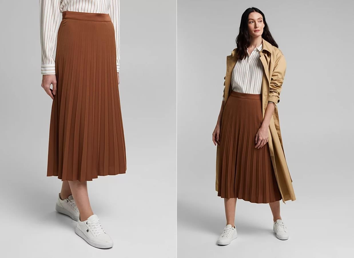 Плисированные юбки для нового сезона