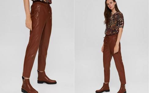 С чем носить коричневую кожу?